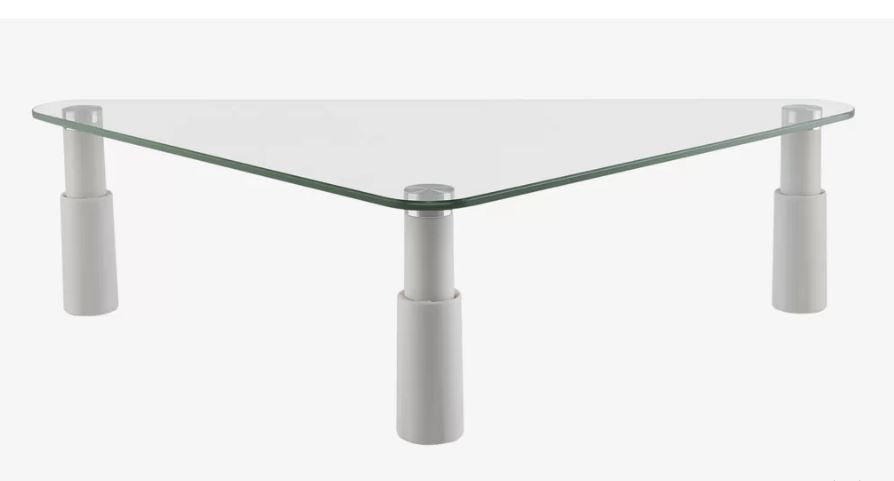 Ergovida ESS-102 Glass Monitor Desk Riser - Triangular