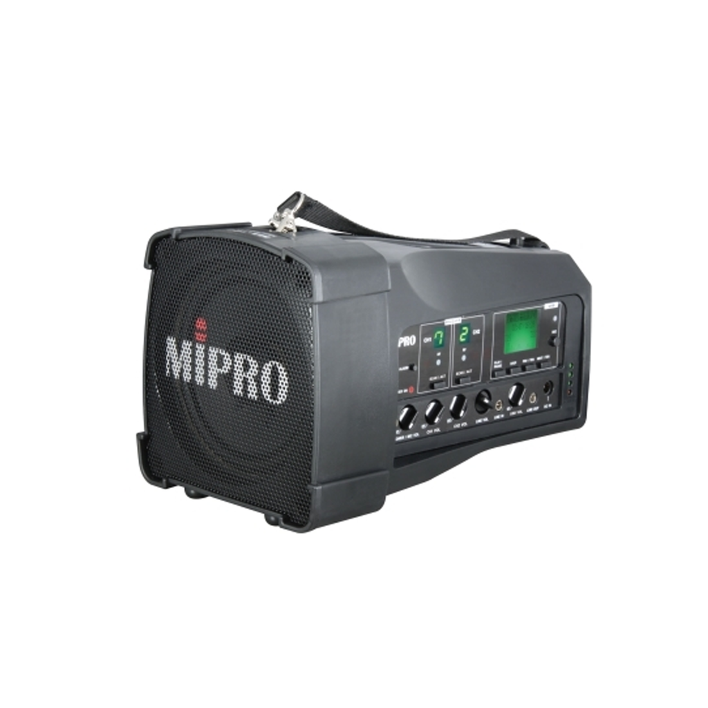 MiPro MA100DB-5 Dual channel PA system with USB player/recorder