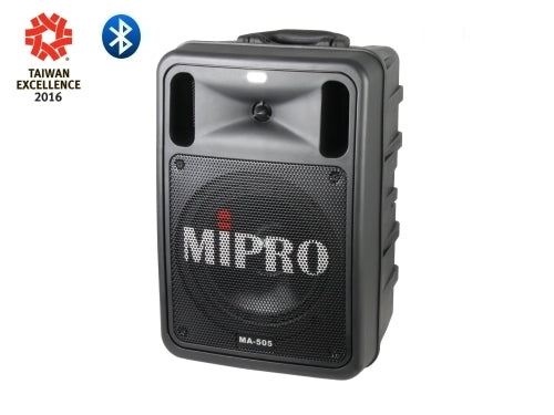 MiPro MA505R2DPM3 Portable PA System - 100W with two receivers and USB/SD player