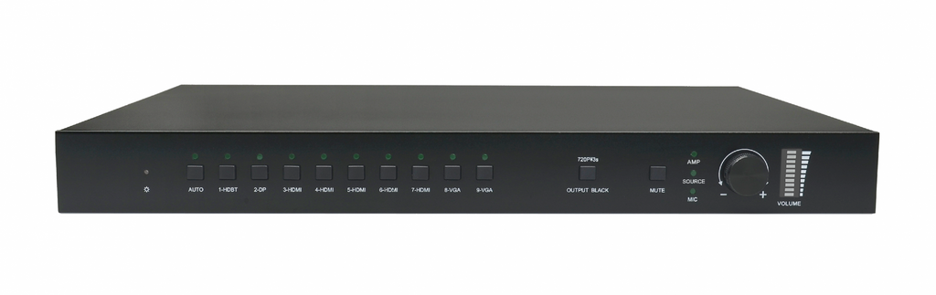 AV Gear SCU91T - 4K Scaler 9 inputs 2 mirrored outputs Seamless Scaler Matrix