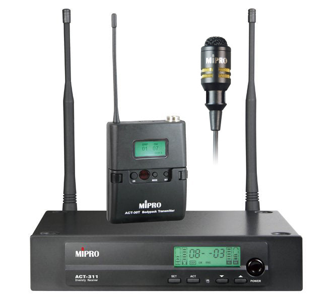 MiPro ACT311-BP-5 Belt pack and lapel wireless microphone package