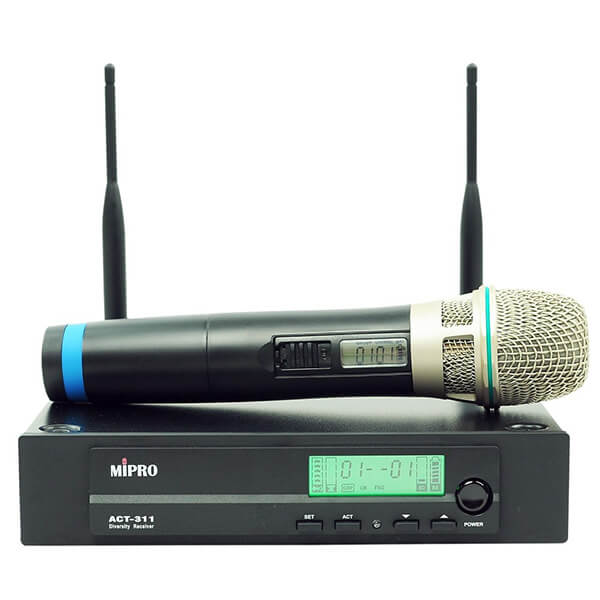 MiPro ACT311B-HH-5 Hand held wireless microphone package