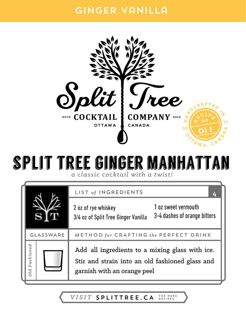 Split Tree Ginger Manhattan