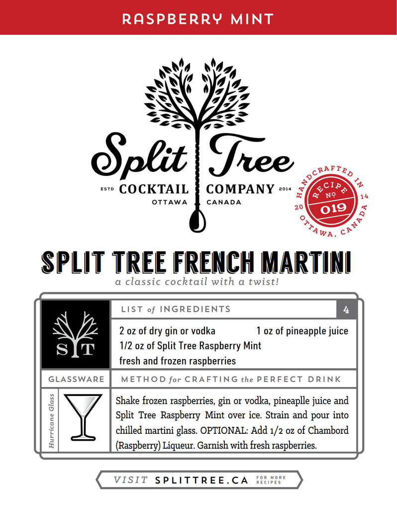 Split Tree French Martini