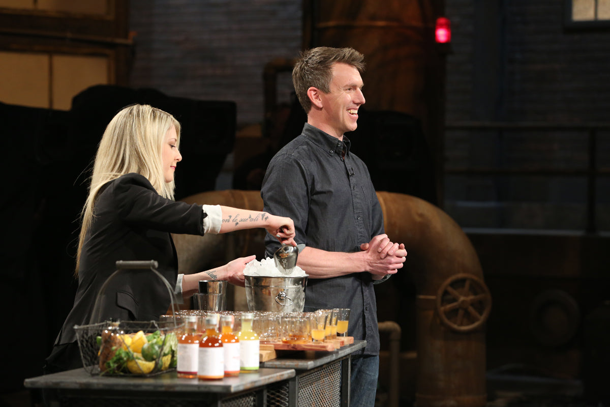 Steve Morrier pitches Split Tree Cocktail to CBC Dragons Den Canada his mixed drinks, tonics and cordials