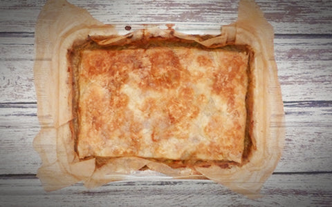 Chicken Pot Pie with Puff Pastry Topping (FROZEN)