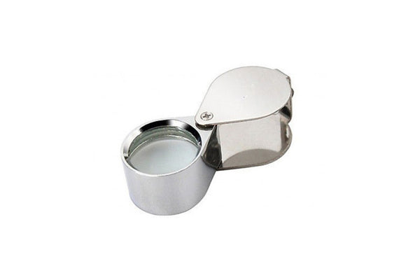 MG610/05 Diamond loupe 10X triplet, 18mm diameter egg-shaped, chrome plated