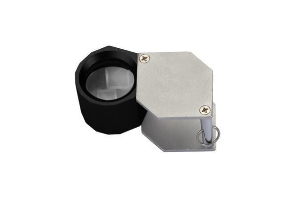 MG600/15 Diamond loupe 10X triplet, 21mm diameter hexagonal, black anodized