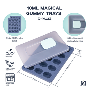 Magical 10ml Gummy Trays - 2 Pack