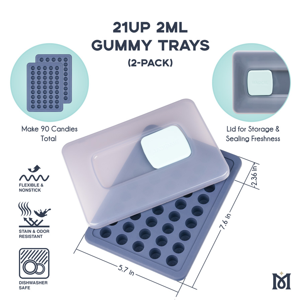 Magical 21UP 2ml Gummy Trays - 2 Pack