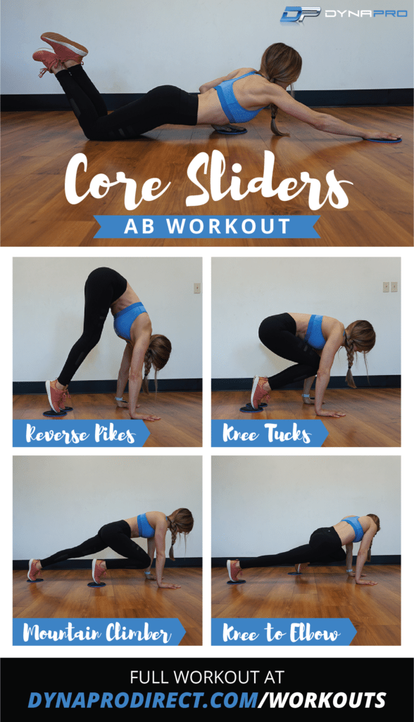 DynaPro Core Sliders Ab Workout