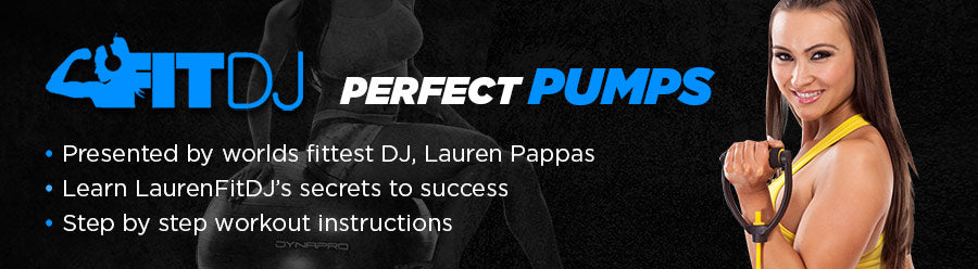 Band workout instructions by worlds fittest DJ - Lauren Pappas