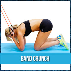 Band crunch - resistance band exercise