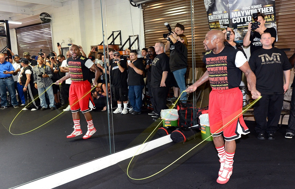 Top boxing jump rope techniques from boxer Floyd Mayweather