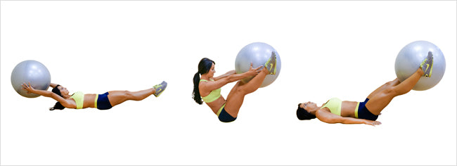 Leg raises with an exercise ball