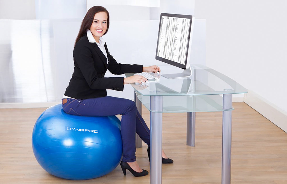 Exercise ball to stay fit and energetic in the office