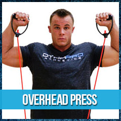 Overhead press - band workout