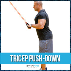 Tricep push-down - resistance band exercise