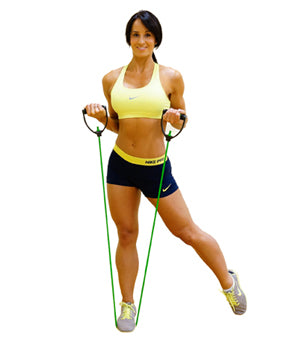 Resistance band bicep curl exercise