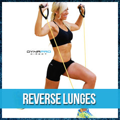 Reverse lunges - resistance band exercise