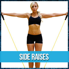 Side raises - band workout