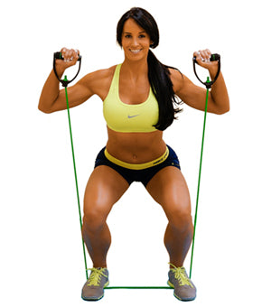 Squats with resistance bands