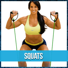 Squats - resistance band exercise