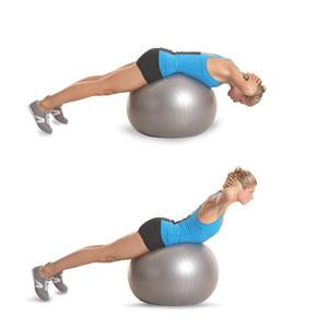 Build strength & stability in the lower back and glutes with stability ball back extension