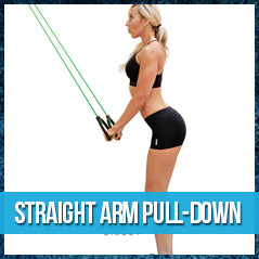 Straight arm pull-down - band workout