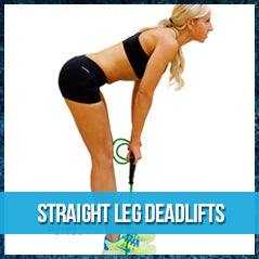 Straight leg deadlifts - band exercise