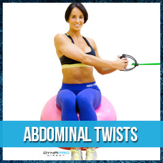 Abdominal twist - exercise ball workout