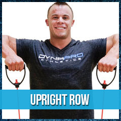 Upright row - resistance band exercise
