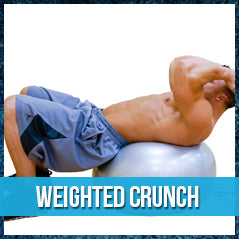Weighted crunch - exercise ball workout