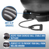 DYNAPRO Exercise Ball Chair & Resistance Band Bundle