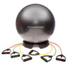 DYNAPRO Exercise Ball Chair & Resistance Band Bundle 65BK3