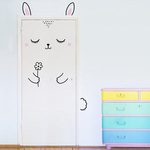 Anni the Sleepy Bunny Door Decal