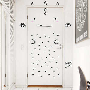 Aaron the Charming Dragon Door Decal