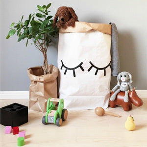 Closed Eye Paper Bag Storage