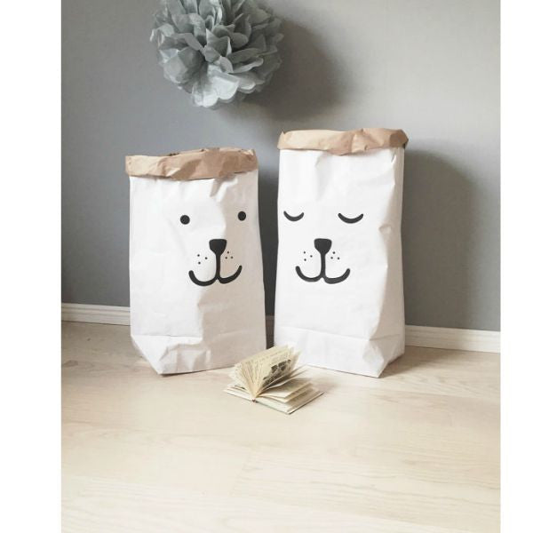Etonnant Bear Paper Bag Storage