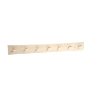 Birch Wood Wall Rack with 7 Hooks