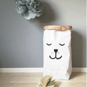 Sleeping Bear Paper Bag Storage
