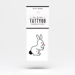 Happy Bunny Temporary Tattoo Set