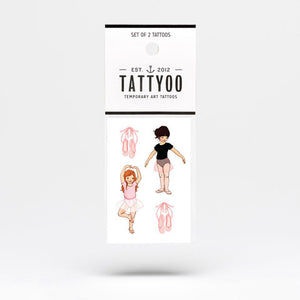 Ballet Temporary Tattoo Set