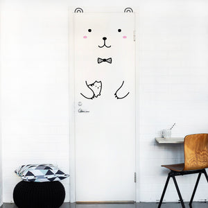 Riku the Gentlebear Door Decal