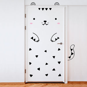 Tofu the Tiger Door Decal