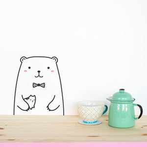 Tiny Riku the Bear Wall Decal