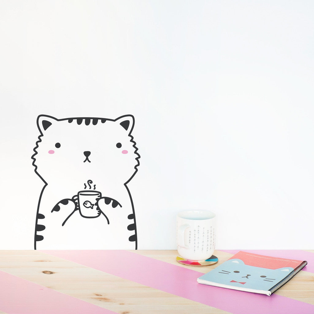 Tiny Sisi the Cat Wall Decal