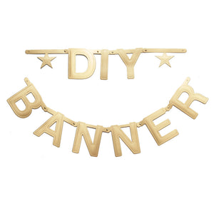 DIY Word Banner - Gold