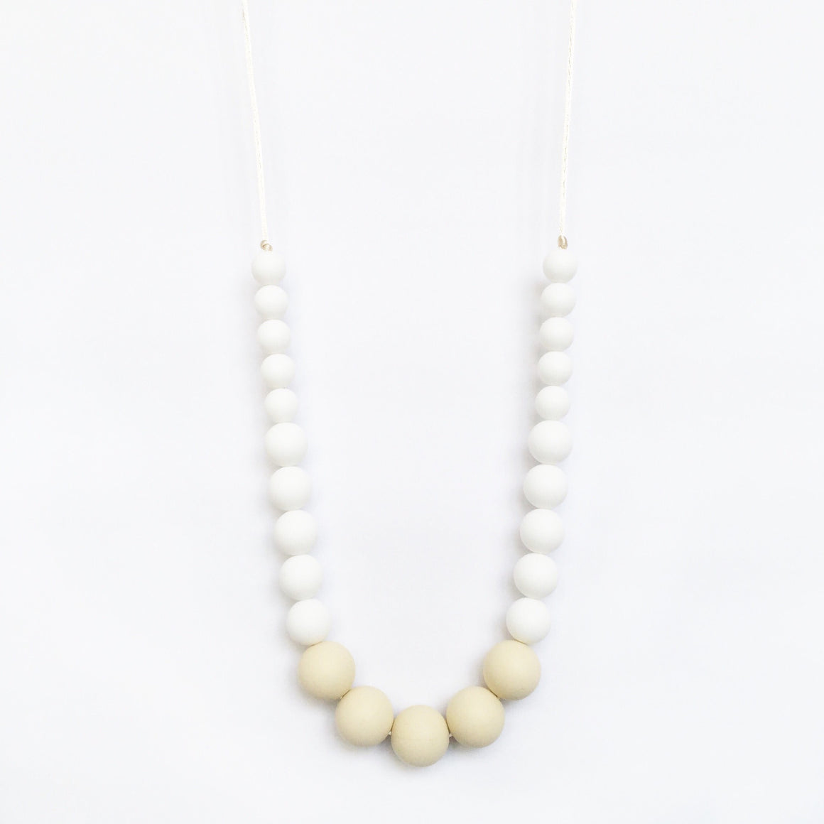 Color Block Silicone Necklace - White