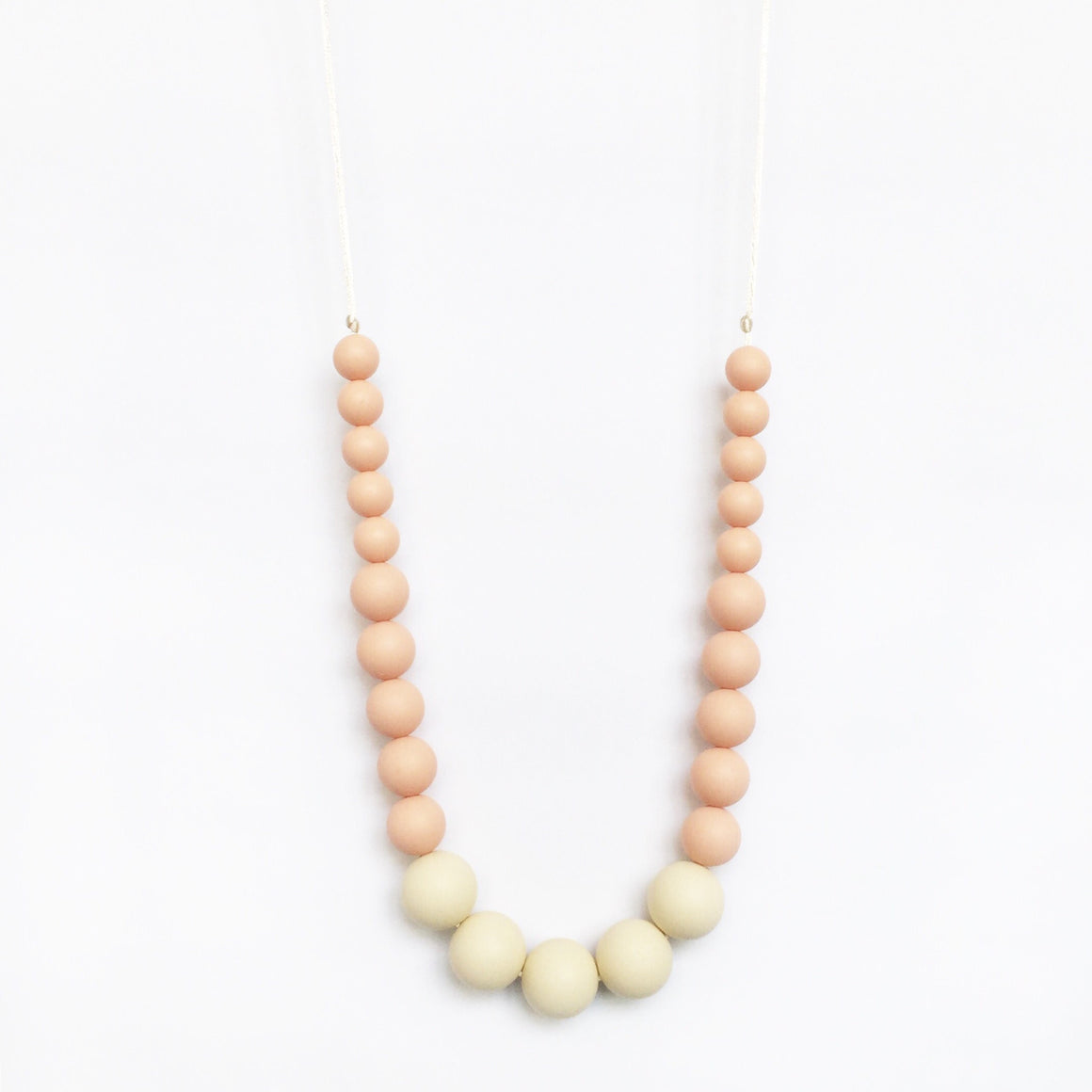 Color Block Silicone Necklace - Blush